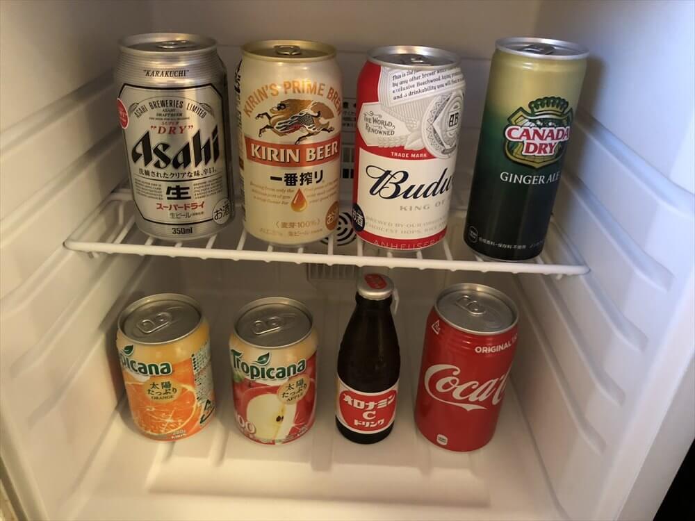 ANAクラウンプラザホテル岡山の冷蔵庫内1