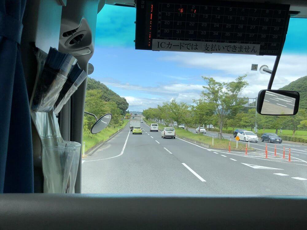 岡山空港域のシャトルバス