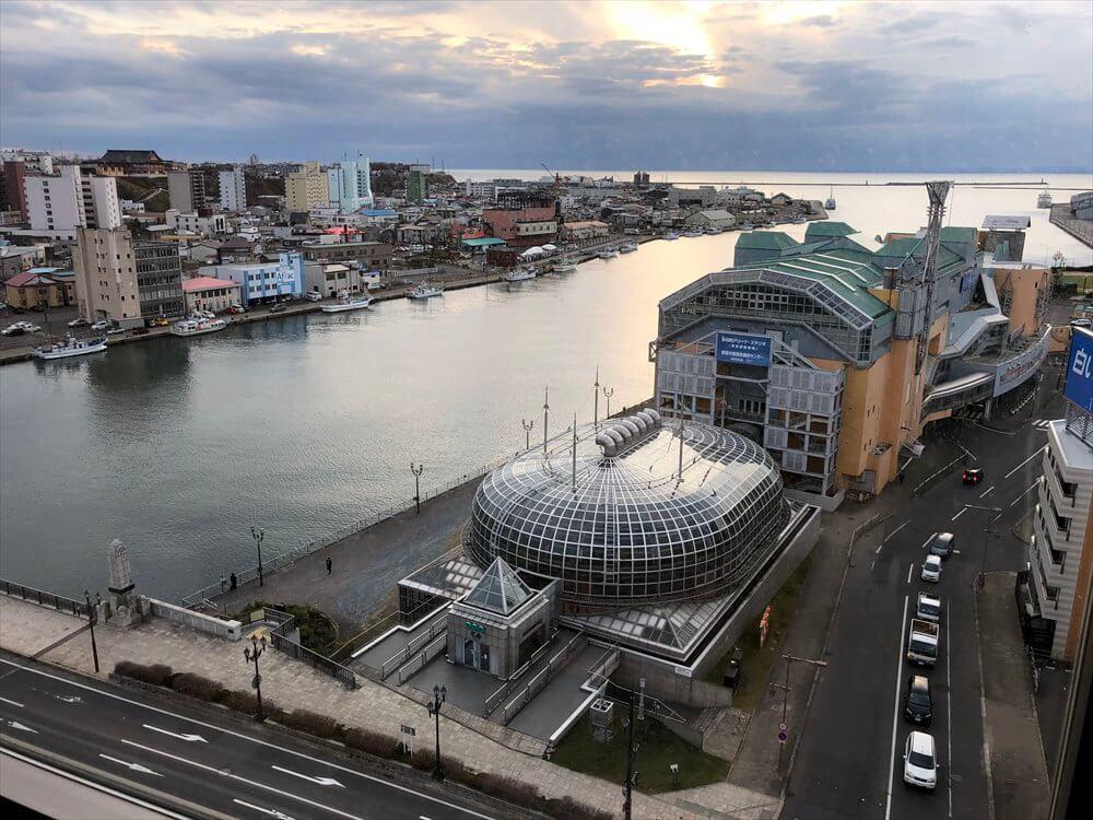 ラビスタ釧路川の和室ツインルームからの眺め