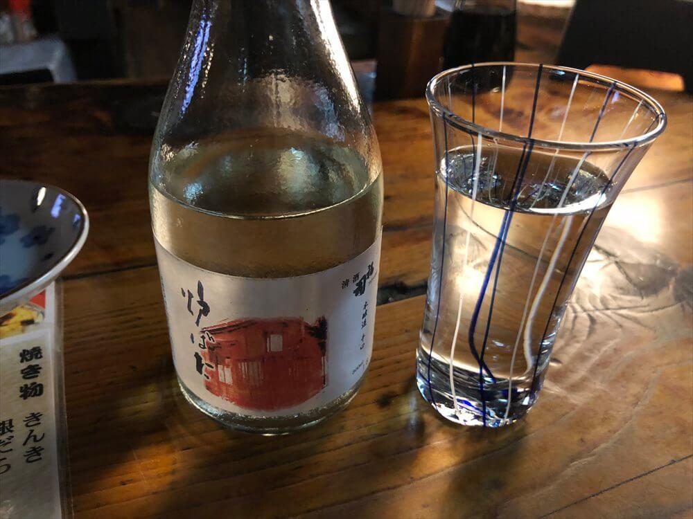 釧路の「炉ばた」の冷酒