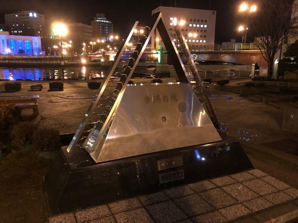 「釧路の夜」記念碑