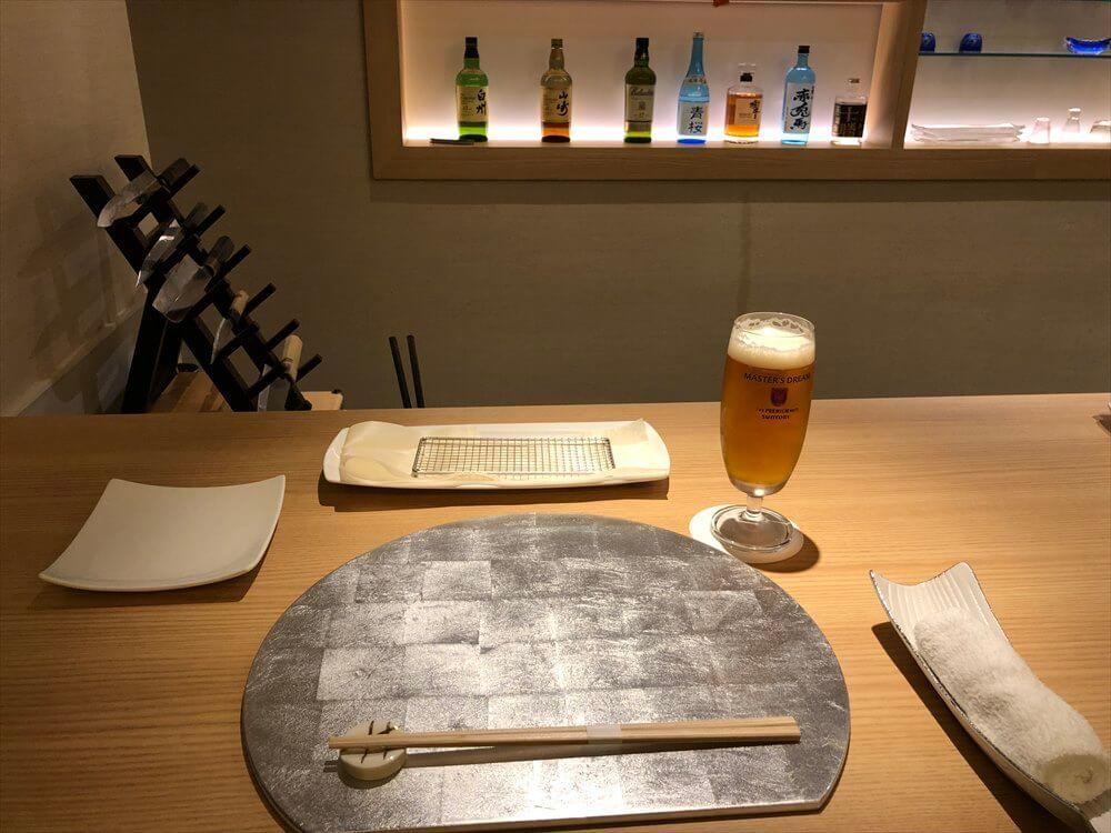 釧路の天ぷら「彩」のカウンター3
