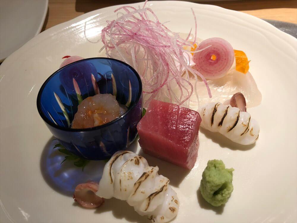 釧路の天ぷら「彩」のお造り