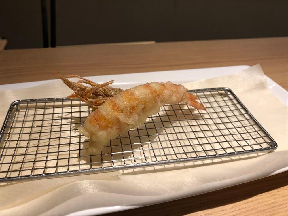 釧路の天ぷら「彩」の車海老