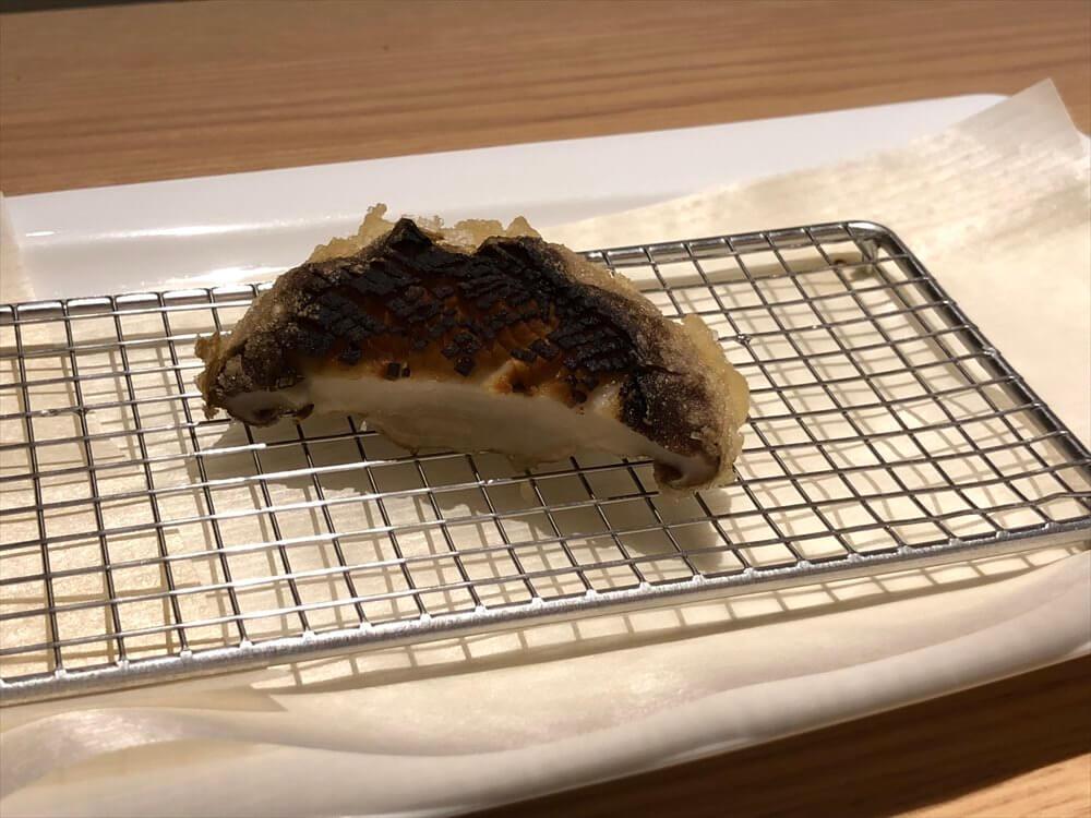 釧路の天ぷら「彩」のしいたけ