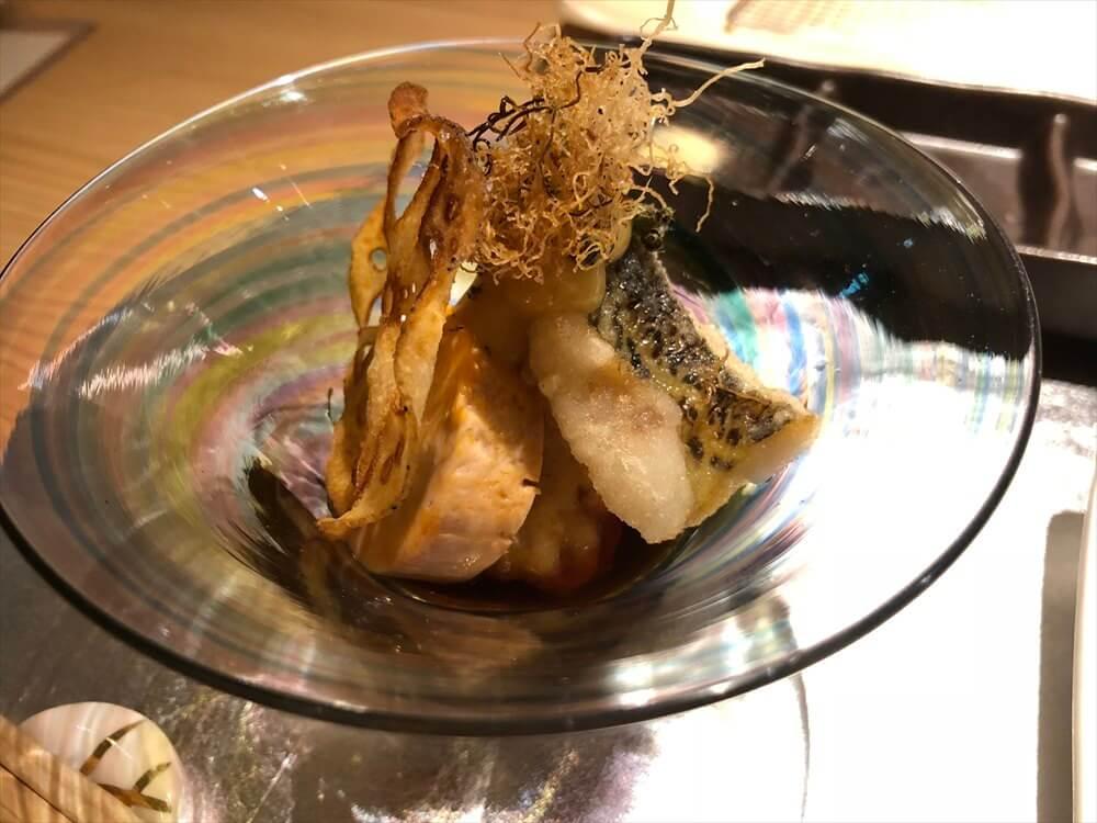 釧路の天ぷら「彩」のハタハタと穴子の天ぷら、アンキモ