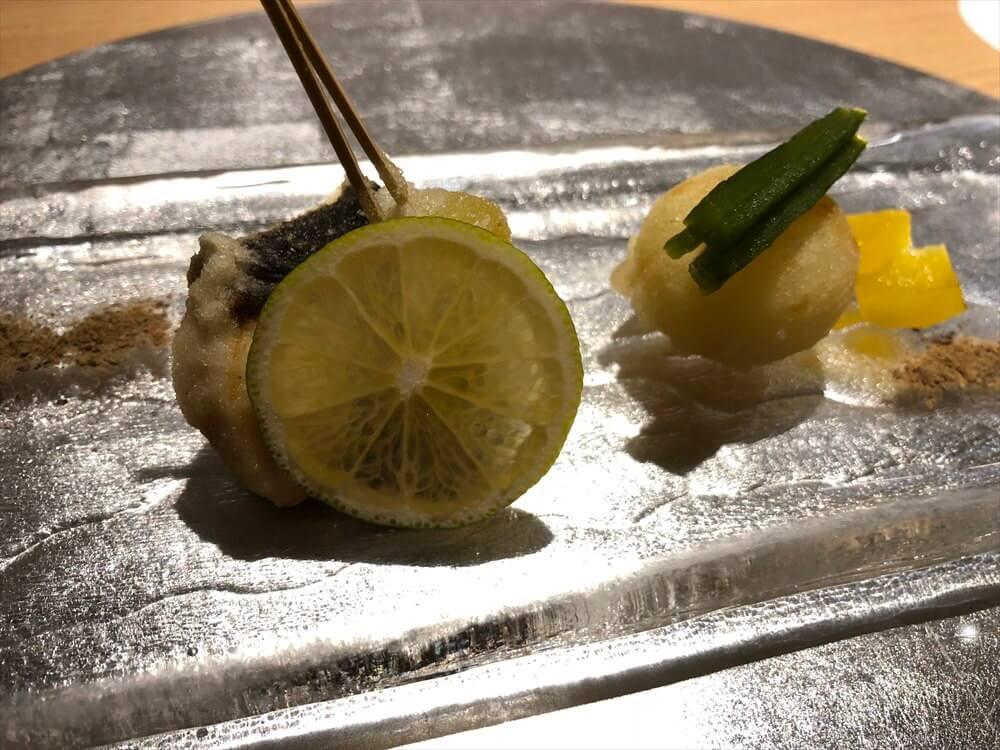 釧路の天ぷら「彩」の目鯛