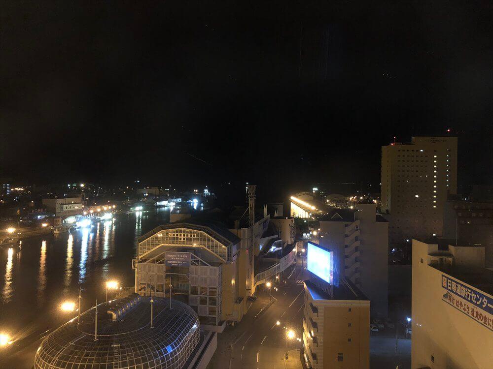 ラビスタ釧路川からの夜景
