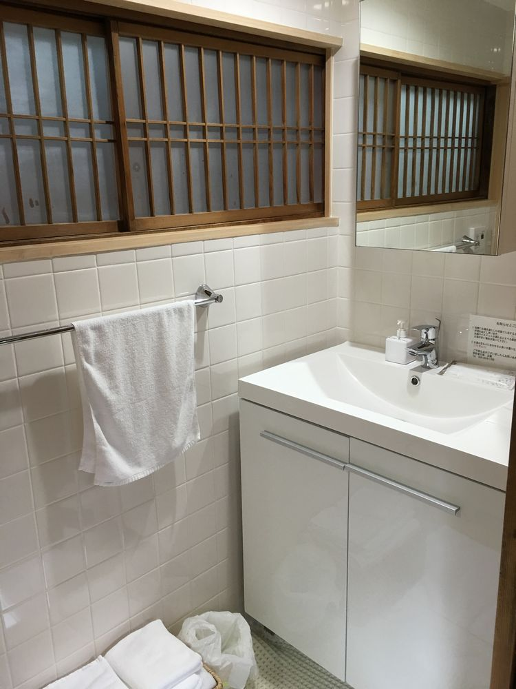正庵のお風呂の洗面所
