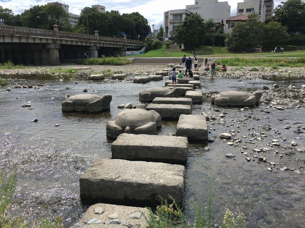 鴨川デルタの飛び石
