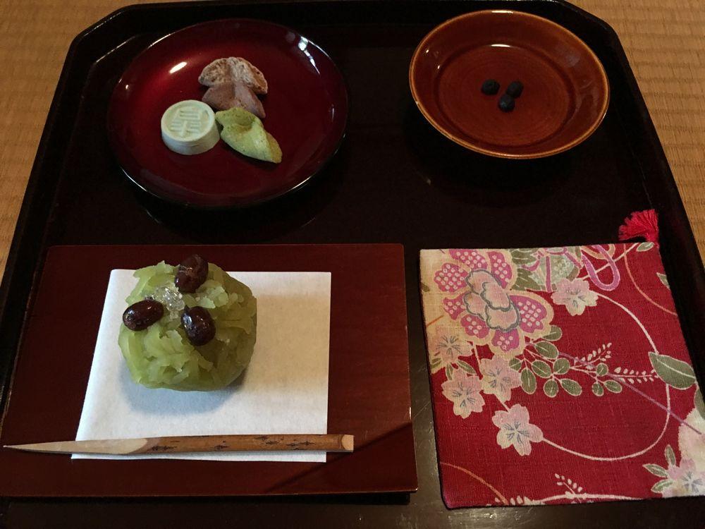 皐盧庵茶舗のお菓子