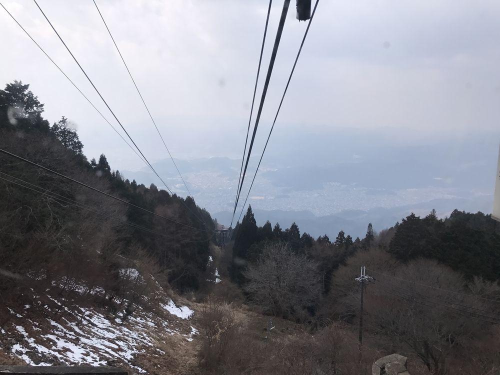 叡山ロープウェイから京都市街地