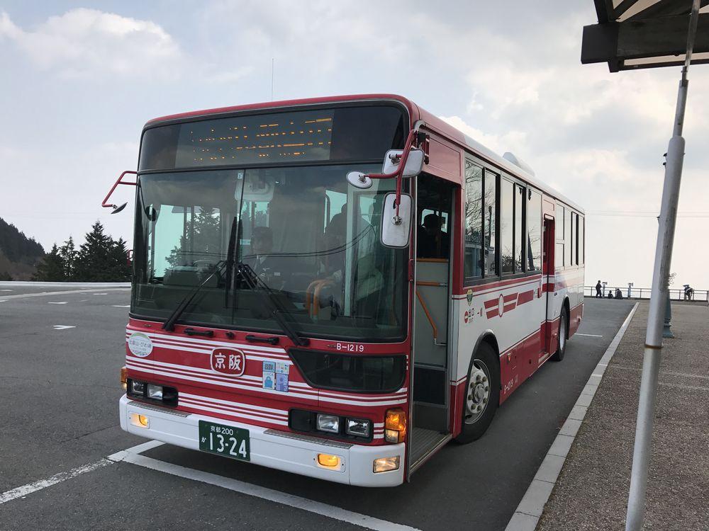 比叡山頂のシャトルバス停2