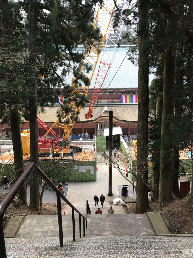 比叡山延暦寺の文殊楼から根本中堂