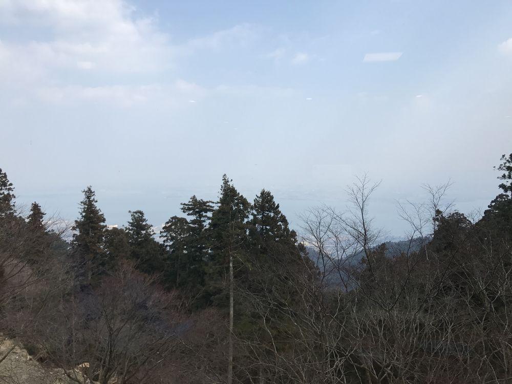 比叡山延暦寺会館から琵琶湖