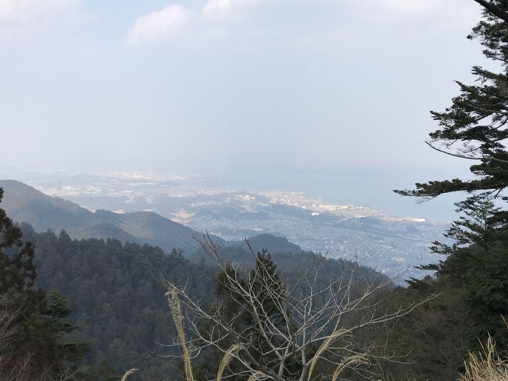 ケーブル延暦寺駅から琵琶湖
