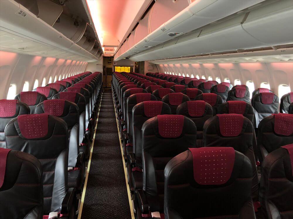 JAL567便の普通席
