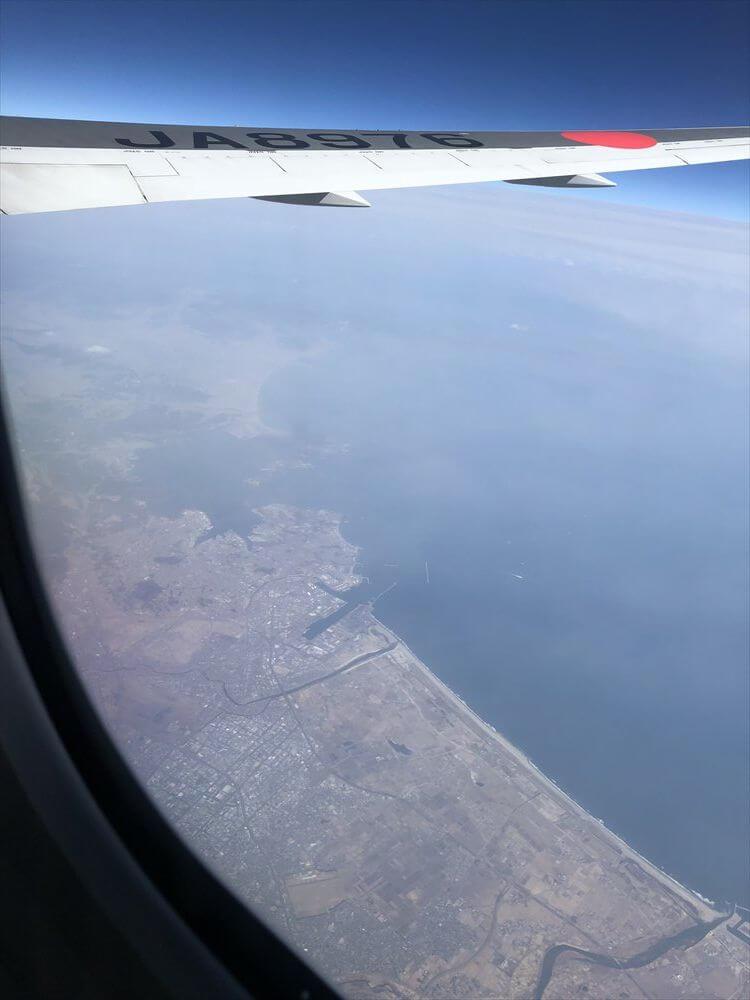 名取市上空から松島湾