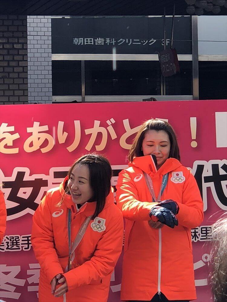 LS北見凱旋パレードの藤澤五月・本橋麻里1