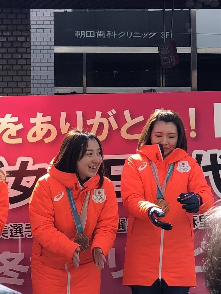 LS北見凱旋パレードの藤澤五月・本橋麻里2