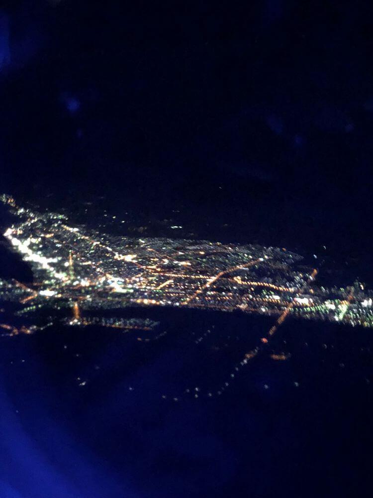 JAL機内から見た北見市街地