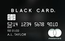 個人決済用ラグジュアリーカード ブラックカード券面デザイン