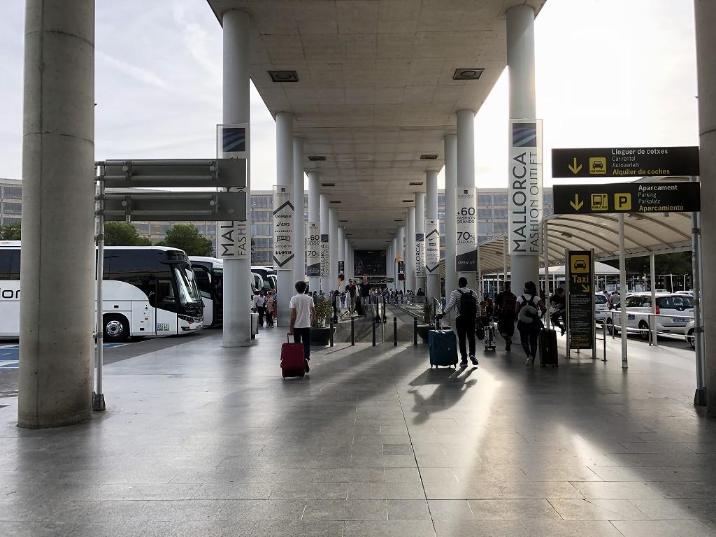 パルマ・デ・マヨルカ空港のタクシー乗り場