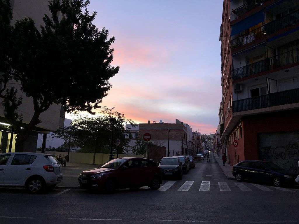 パルマ・デ・マヨルカ郊外の夕暮れ