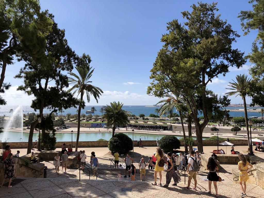 マヨルカ大聖堂から港の眺め1