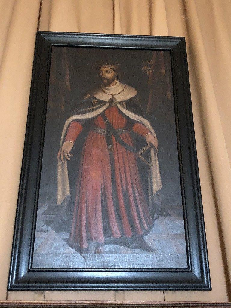 アルムダイナ宮殿のハイメ一世の肖像