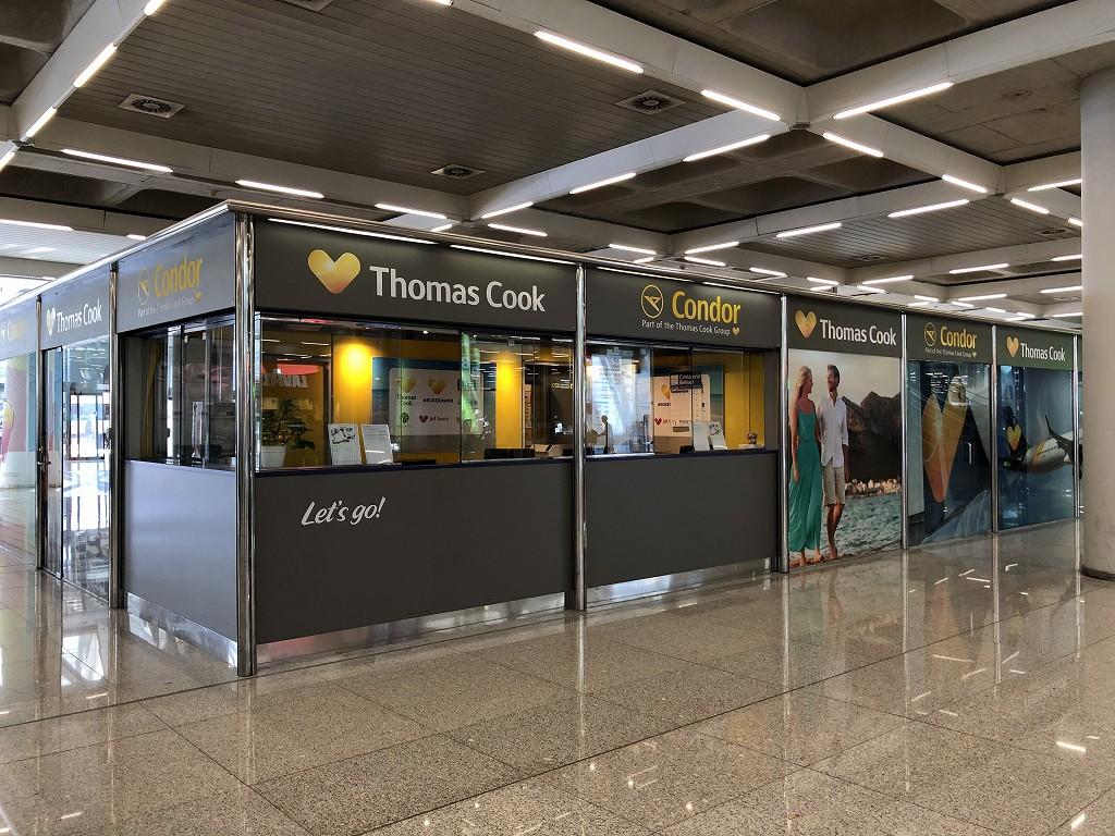 パルマ・デ・マヨルカ空港のトーマス・クックのカウンター