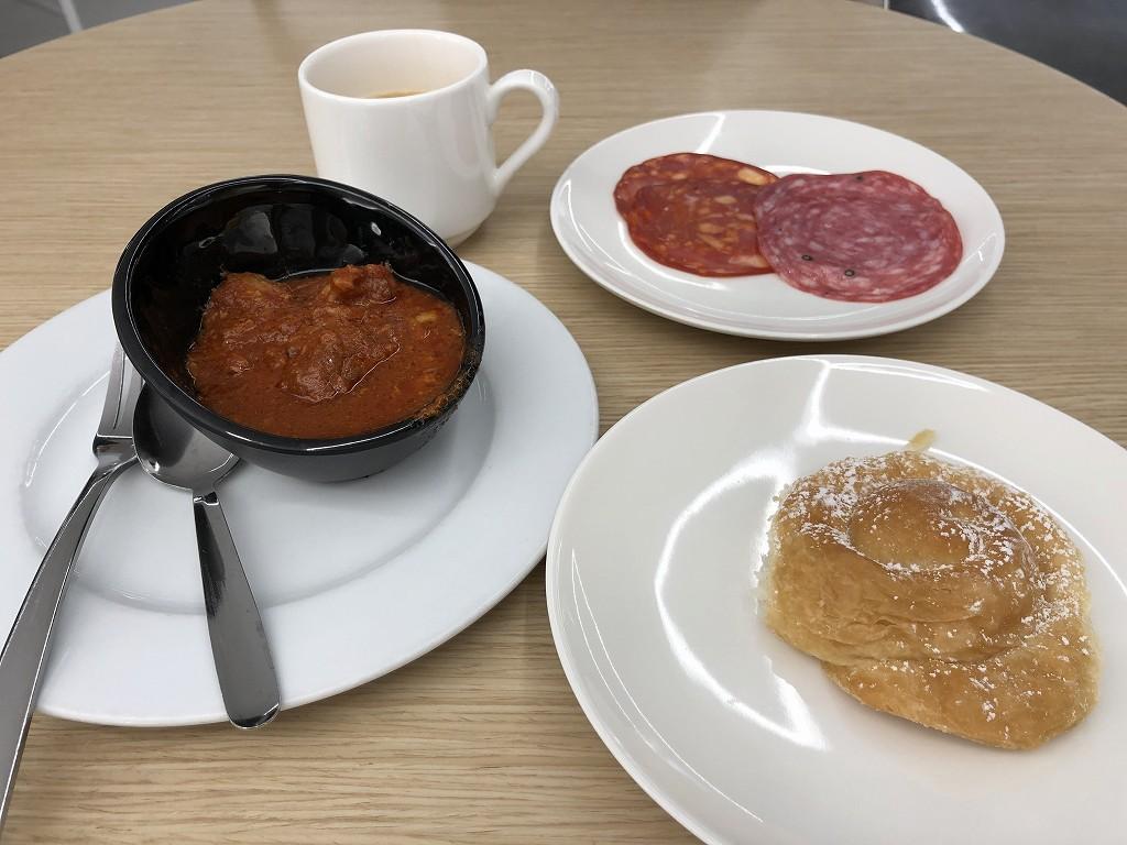 パルマ・デ・マヨルカ空港のSALA VIPラウンジで昼飯