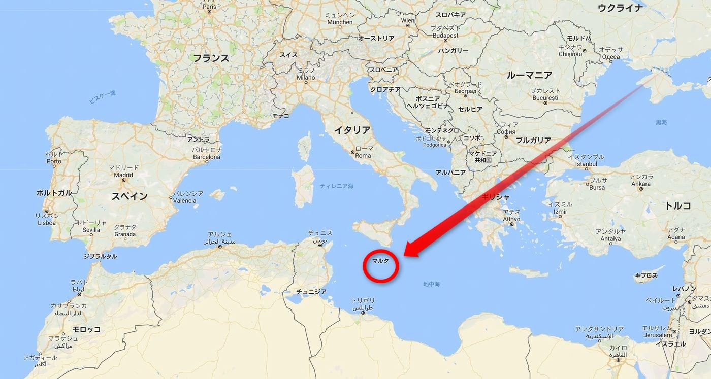 マルタ島の位置