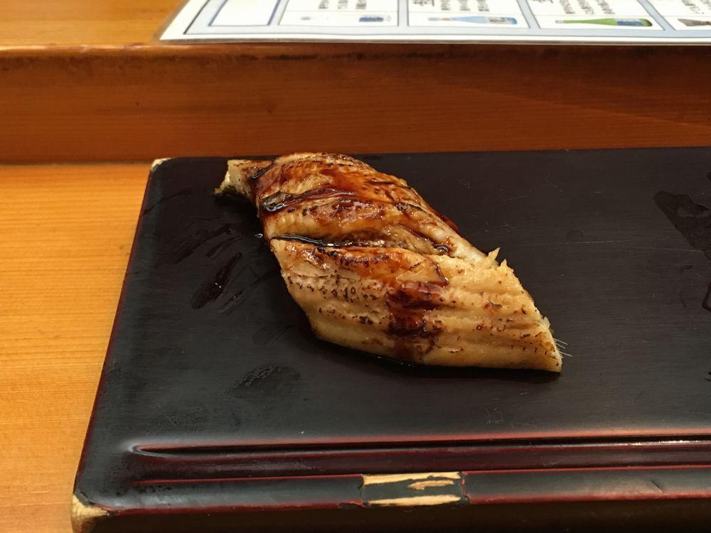 松江の呉竹鮨のアナゴ