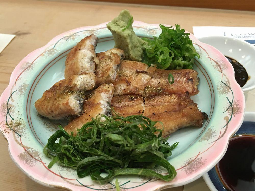 松江の呉竹鮨のうなぎの白焼