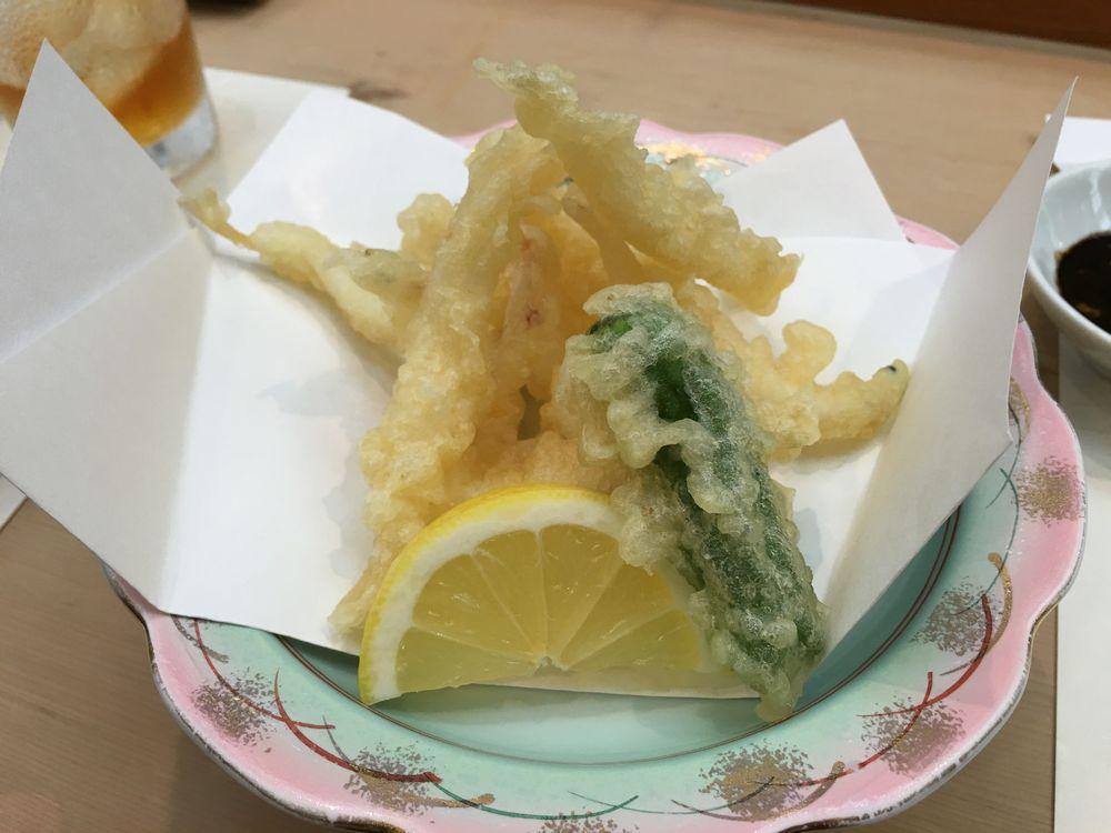 松江の呉竹鮨の白魚の天ぷら