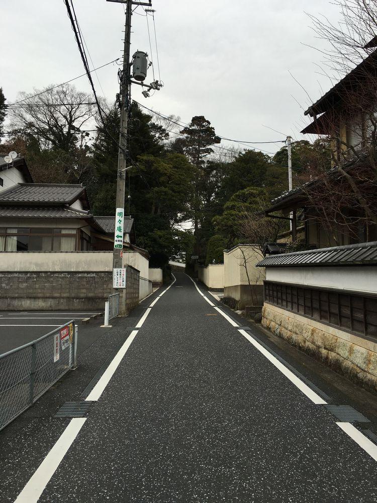 松江の赤山の坂道