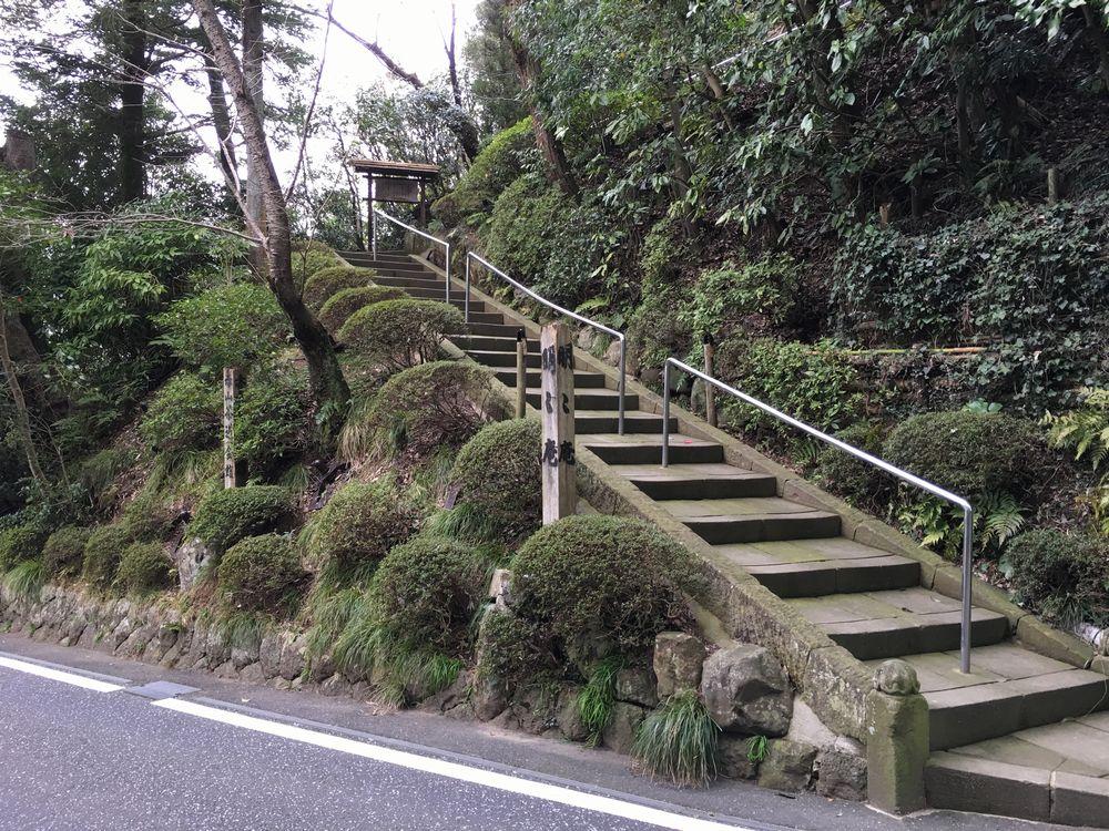 明々庵の階段