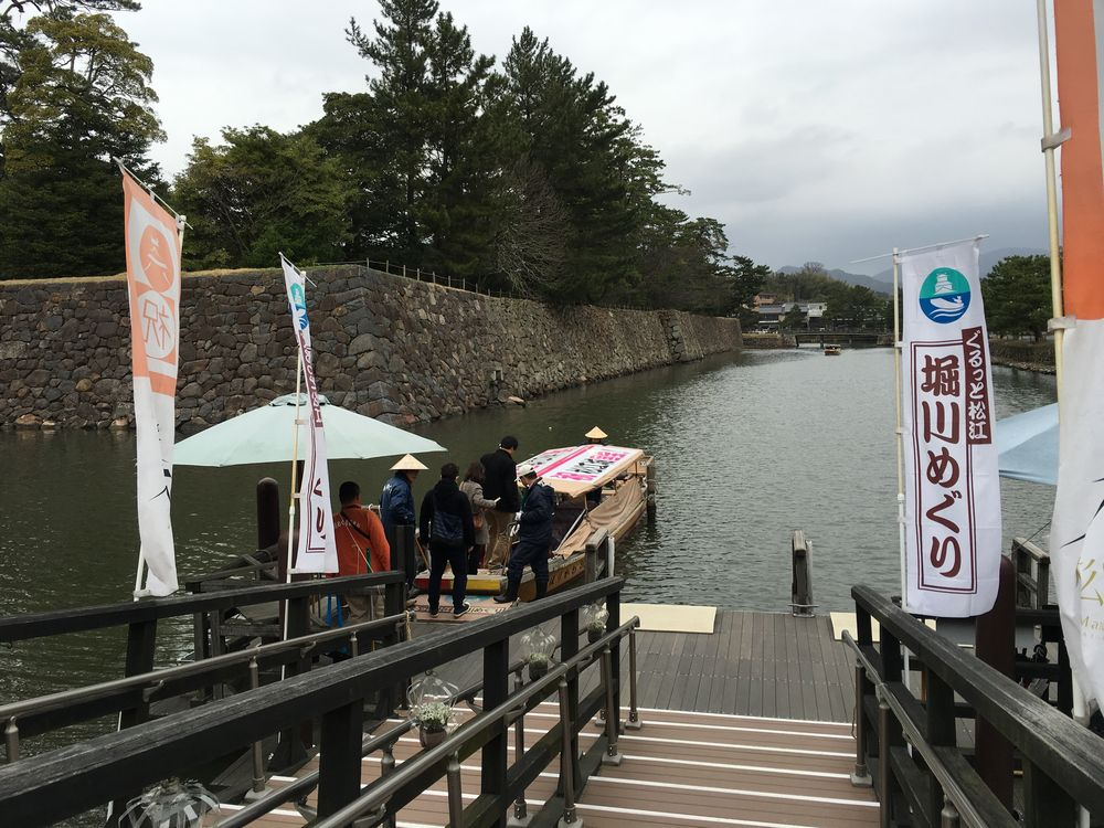 松江城の堀川めぐり