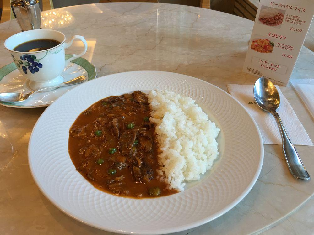 松山全日空ホテルのティーラウンジのビーフハヤシライス