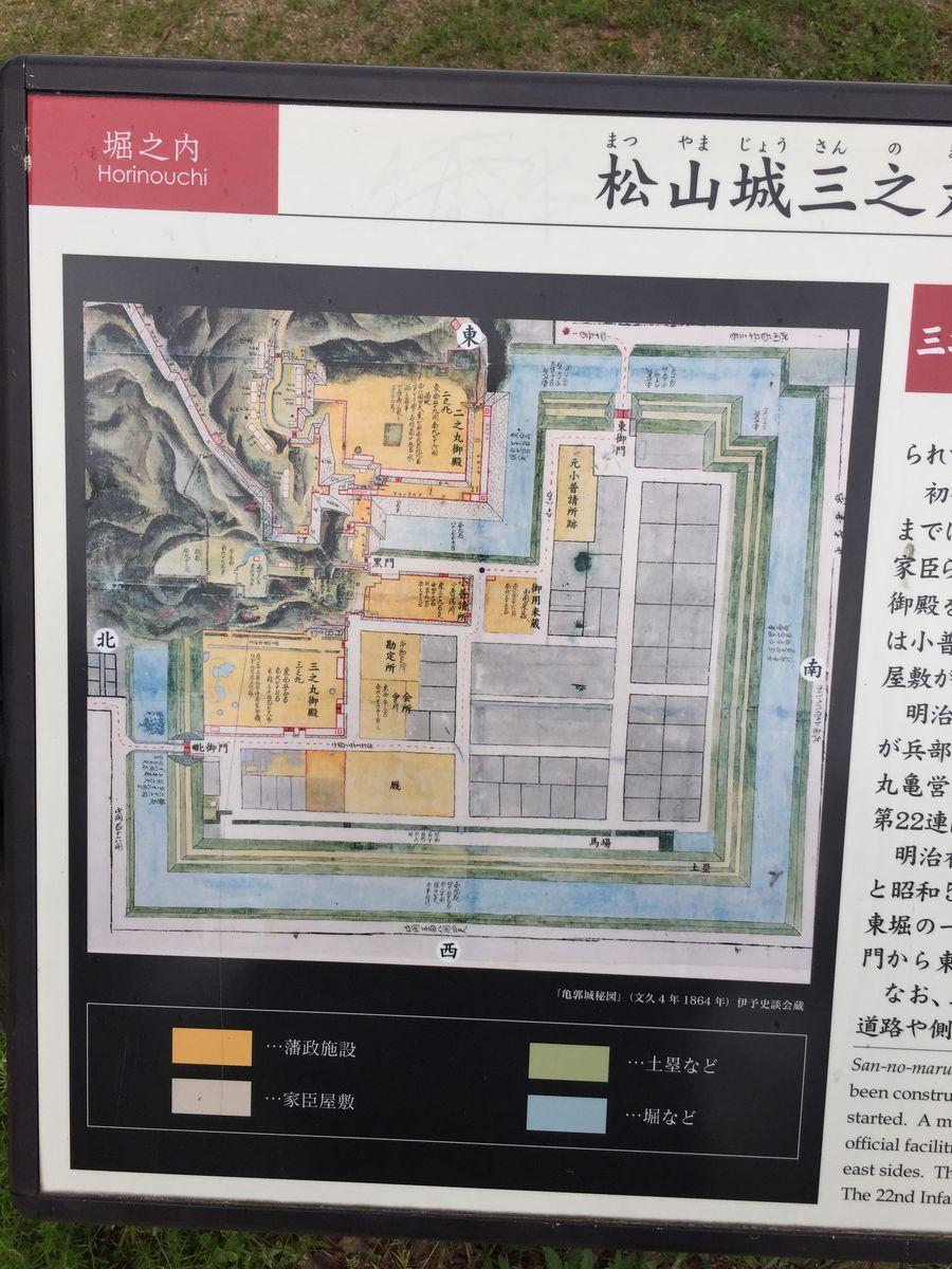 江戸時代の松山城三の丸(堀之内)