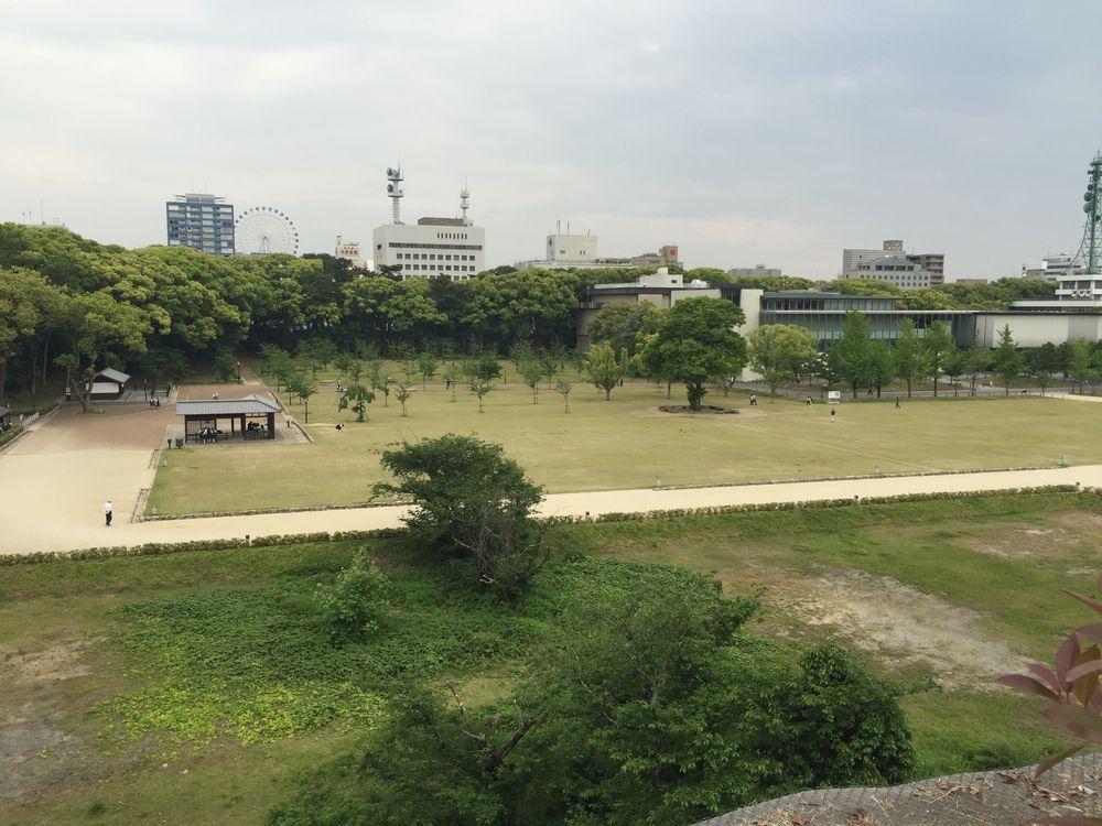 松山城二の丸から三の丸の眺め