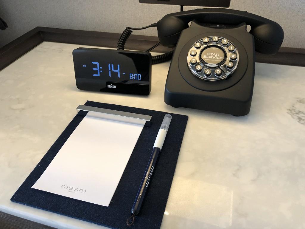 メズム東京の黒電話