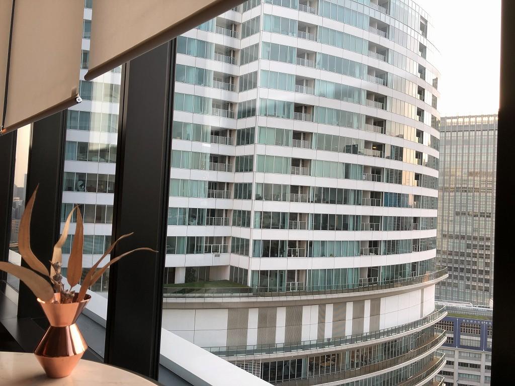 メズム東京の「シェフズ・シアター」からの眺め2