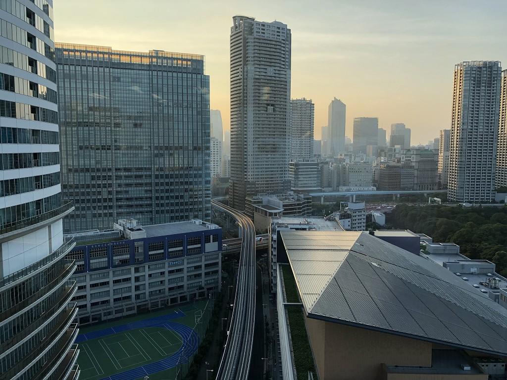 メズム東京の「シェフズ・シアター」からの眺め1