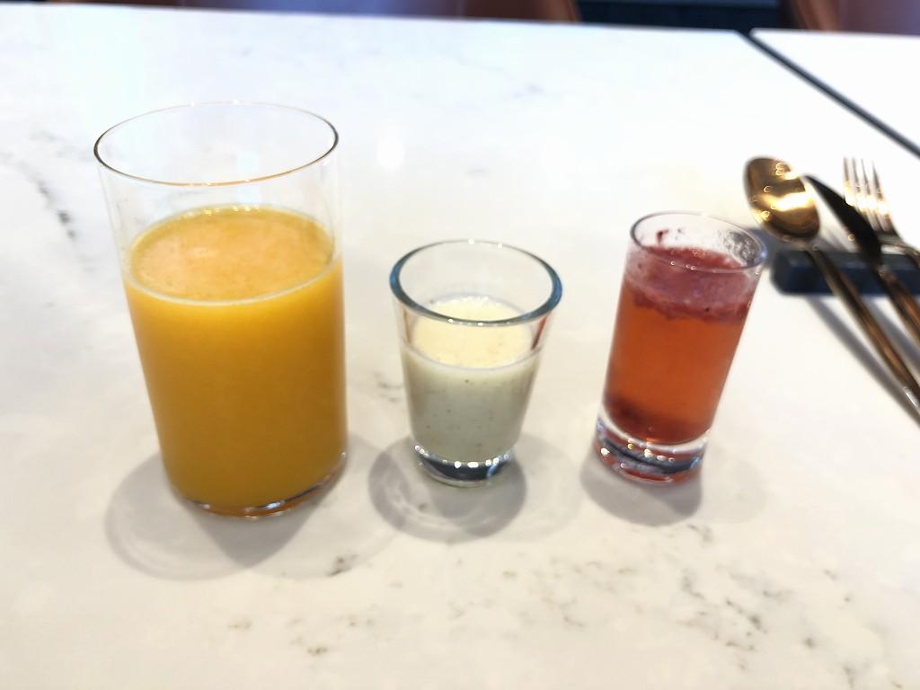 メズム東京のアメリカンブレックファストのジュース