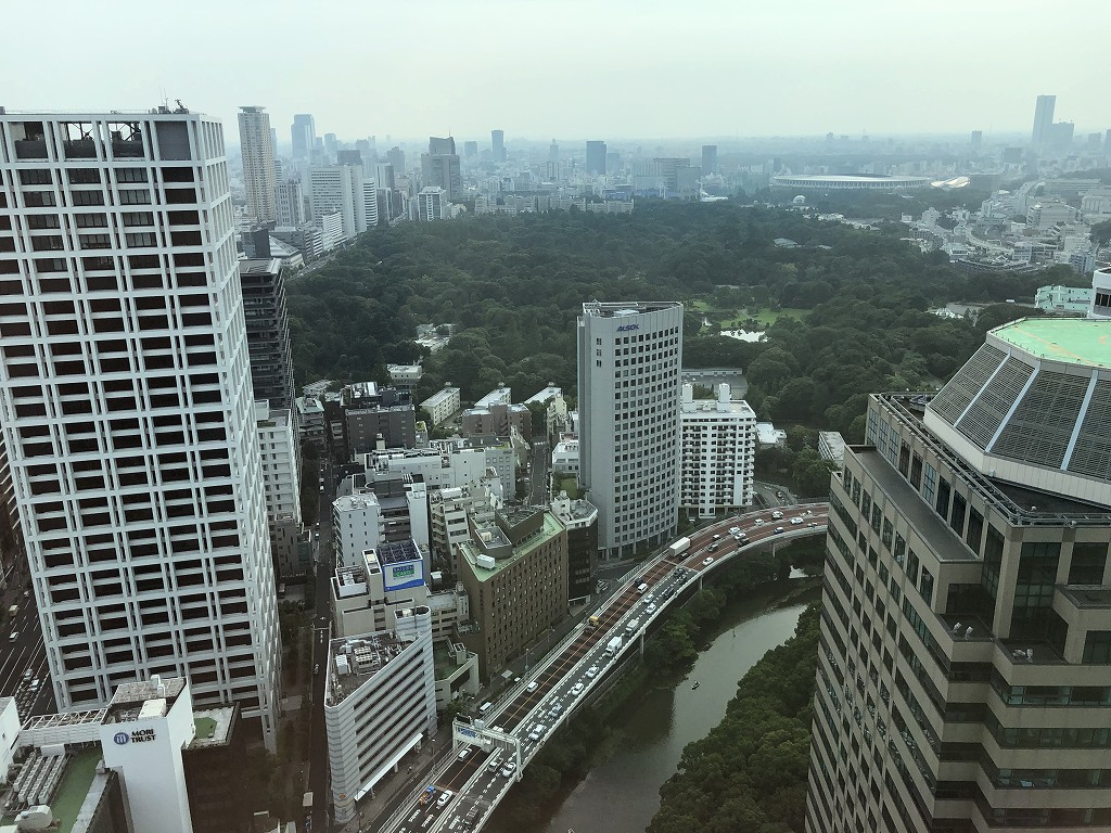 ザ・プリンスギャラリー東京紀尾井町からの眺め