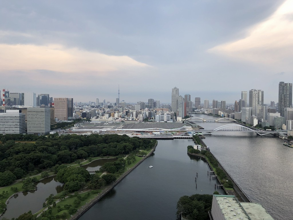 メズム東京のチャプター2、ガーデンビュールームからの眺め1