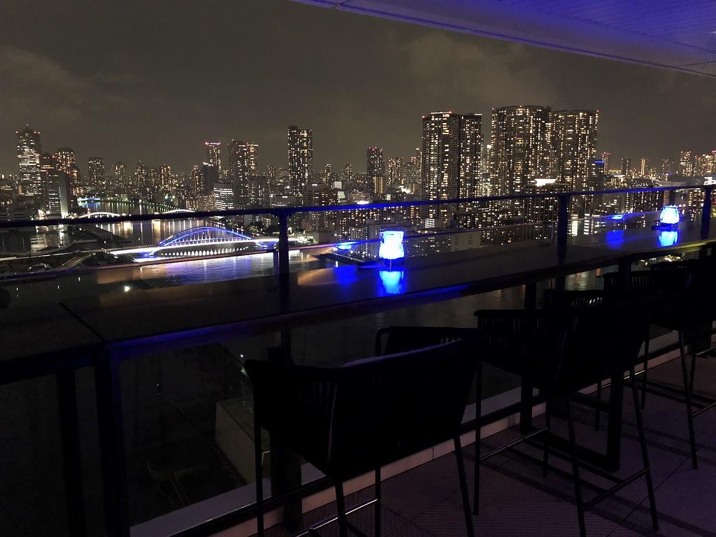 メズム東京「club mesm」からの夜景1
