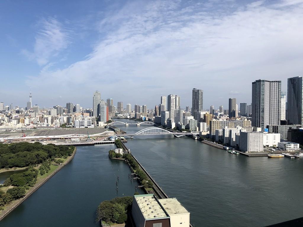 メズム東京の「チャプター2、キングルーム、ガーデンビュー」からの眺め1